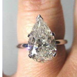 NEW pear cut bridal engagement ring